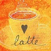 Latte Art Print by Linda Woods