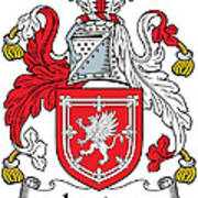 Lauder Coat Of Arms Irish Art Print