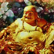 Laughing Buddha  Art Print