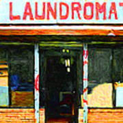 Laundromat 20130731pop Art Print by Wingsdomain Art and Photography