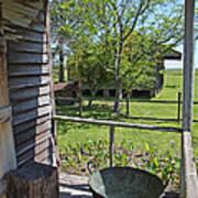 Laura Plantation Slaves Porch Art Print