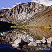 Laural Mountain Convict Lake California Art Print by Bob and Nadine Johnston