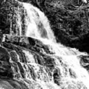 Laurel Falls Smoky Mountains 2 Bw Art Print