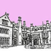 Laurel Hall In Pink  Art Print by Adendorff Design