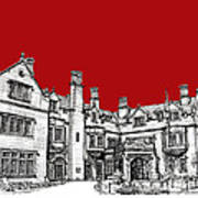 Laurel Hall In Red Art Print