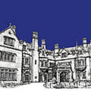 Laurel Hall In Royal Blue Art Print