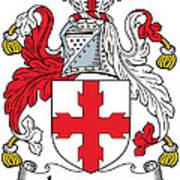 Laurence Coat Of Arms Irish Art Print