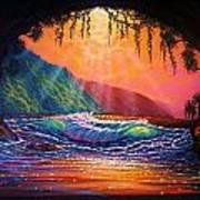 Lava Tube Fantasy 1 Art Print by Joseph   Ruff