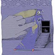 Lavendar Dress Art Print