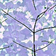 Lavender Blues Leaves Melody Art Print