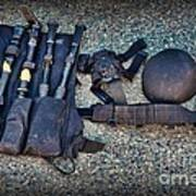 Law Enforcement -swat Gear - Entry Tools Art Print by Paul Ward