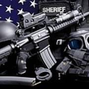 Law Enforcement Tactical Sheriff Art Print