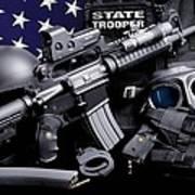 Law Enforcement Tactical Trooper Art Print by Gary Yost