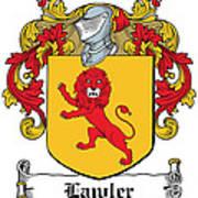Lawler Coat Of Arms Irish Art Print