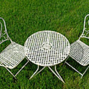 Lawn Furniture Art Print by Olivier Le Queinec