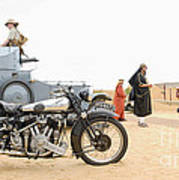 Lawrence Of Arabia Display At The Goodwood Revival Meeting Art Print