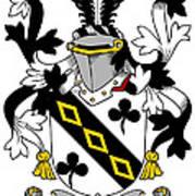 Lawson Coat Of Arms Irish Art Print