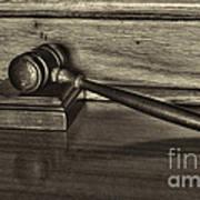 Lawyer - The Gavel Print by Paul Ward