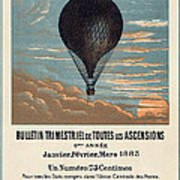 Le Ballon Advertising For French Aeronautical Journal Art Print