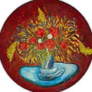 Le Bouquet Rouge - Original For Sale Art Print