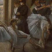 Le Foyer De L'opera Art Print by Edgar Degas