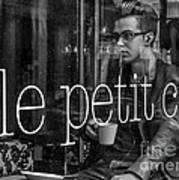 le petit cafe' Montreal Art Print