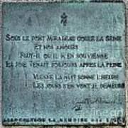 Le Pont Mirabeau Art Print