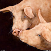 Le Smooch Art Print by Will Bullas