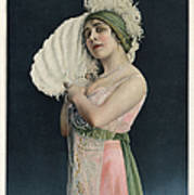 Le Theatre 1912 1910s France Mlle Art Print by The Advertising Archives