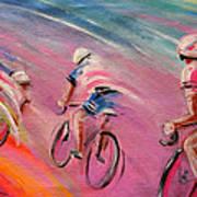 Le Tour De France 16 Acrylics Art Print