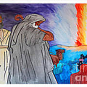 Lead By The Pillar Of Fire Art Print
