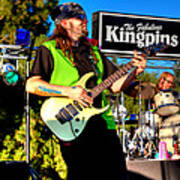 Lead Guitarist Jimmy Dence - The Fabulous Kingpins Art Print by David Patterson