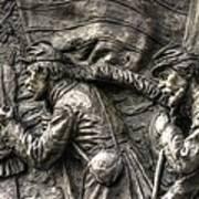 Leading The Way - State Of Delaware Monument Detail-j Gettysburg Art Print