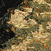 Leaf Abstract Ode To Klimt Art Print