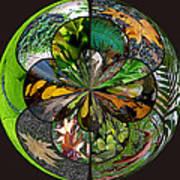 Leaf Collage Orb Art Print