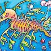 Leafy Sea Dragon Art Print by Tamara Blyth