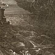 Leander Swims Over The Hellespont Art Print by Bernard Picart