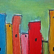 Leaning Towers Art Print