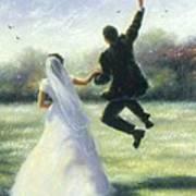 Leap Of Love Art Print