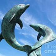 Leaping Dolphins In The Isles Of Scilly Art Print