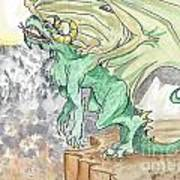 Leaping Dragon Art Print
