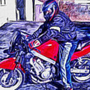 Learn How To Ride Art Print