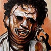 Leatherface Unleashed Art Print