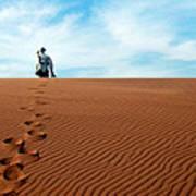 Leave Only Footprints Behind.. Art Print