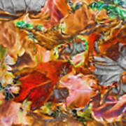Leaves Abstraction I   Art Print