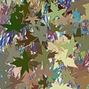 Leaves And Grass Abstract Art Print