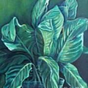 Leaves In A Vase Art Print by Ellen Howell