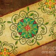 Leaves Rosette 1 Art Print