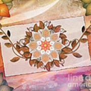 Leaves Rosette 2 Print by Bedros Awak