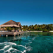Leaving Kuramathi Resort. Maldives Print by Jenny Rainbow